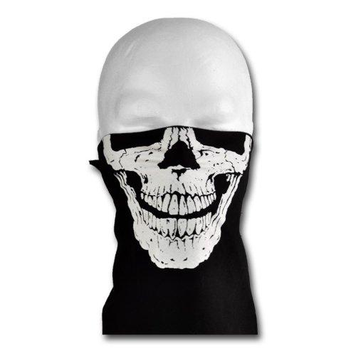 Windmask biker totenkopf skull face 2 bandana gesicht tuch for Bandana tuch binden