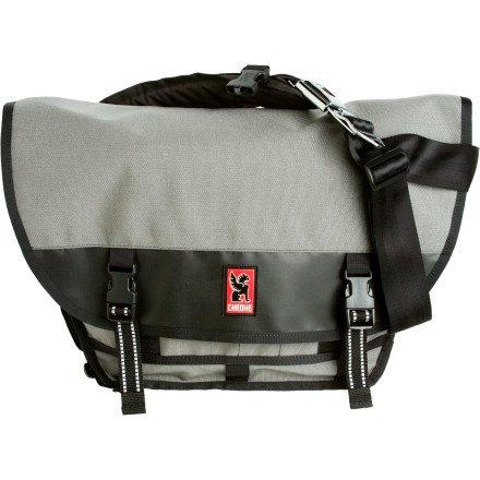 Chrome Mini Metro Messenger Bag Grey/Black, One Size front-1031523