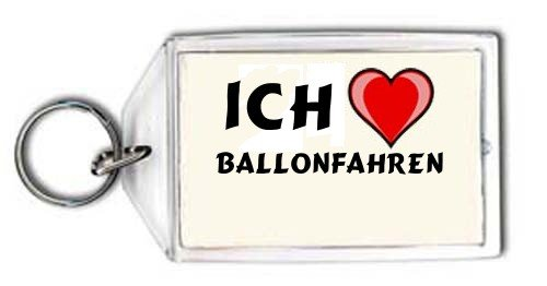 Schl&#252;sselhalter mit Aufschrift Ich liebe Ballonfahren (Sport)