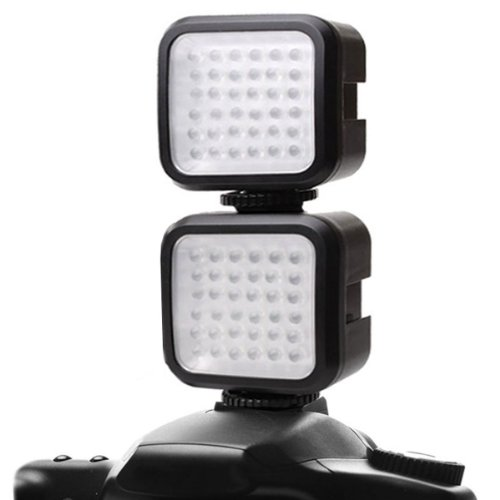 2-Pack Enhance Vidbright 36 Rechargeable High Output Balanced Light Led Camera / Video Light Panel W/ Built-In Diffuser For Canon , Nikon , Sony , Fujifilm , Leica , Pentax & More Digital Slr Cameras