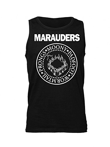The Marauders: Moony, Padfoot, Wormtail And Prongs Circle Emblem Men's Tank Top Shirt XX-Large