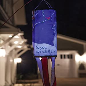 Do You See What I See Snowman Solar LED Wind Sock