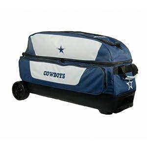 NFL Triple Roller Bowling Bag- Dallas Cowboys by KR Strikeforce Bowling Bags