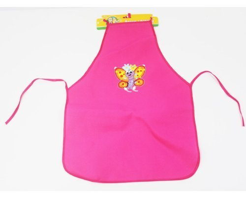Backyard Travels Butterfly Kids Apron - Pink