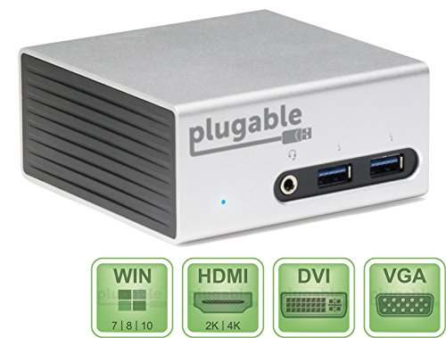 Lowest Prices! Plugable UD-5900 USB 3.0 Aluminum Mini Universal Docking Station with Dual Video Outp...