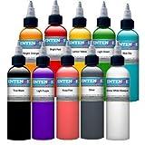 10 Piece 1oz Intenze Basic Solid Color Set