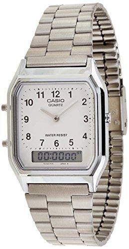CASIO Collection AQ-230A-7BMQYES - Reloj unisex de cuarzo, correa de acero inoxidable...