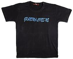 NautieCutie Boys Slim Fit T-Shirt (NCB 5-BLACK_24, Black, 2 to 4 Years)