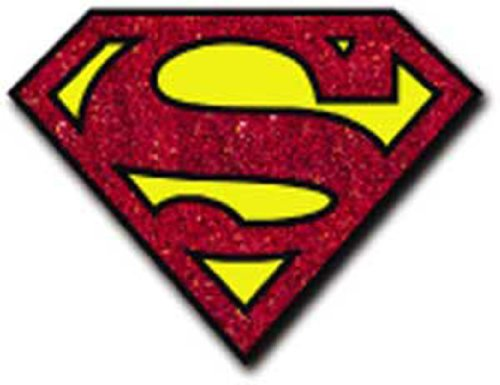 Licenses Products DC Comics Originals Superman Glitter Sticker