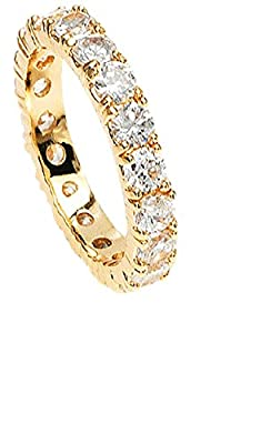 Simply Glamorous Jewellery-18ct Gold Filled Full Eternity Ring in 0.10ct Simulated Diamond