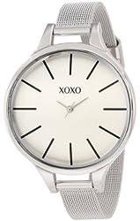 XOXO Women's XO5571 Silver-Tone Watch with Mesh Strap