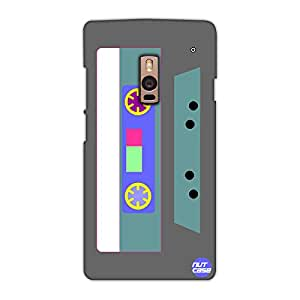 Designer OnePlus Two Case Cover Nutcase -Retro Casette Grey & Pale Blue