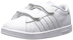 K-SWISS Hoke Strap Sneaker (Infant/Toddler/Little Kid), White/White, 3 M US Infant