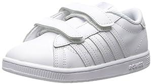 K-SWISS Hoke Strap Sneaker (Infant/Toddler/Little Kid), White/White, 8.5 M US Toddler