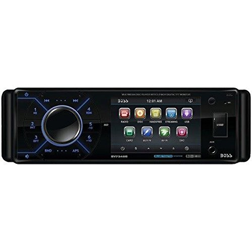 (-NEW-) Boss 3.2 Single Din Receiver Bluetooth DVD/CD USB/SD Front Aux Input