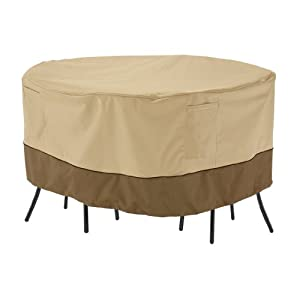 Classic Accessories 71962 Veranda Round Patio Bistro Table & Chair Set Cover