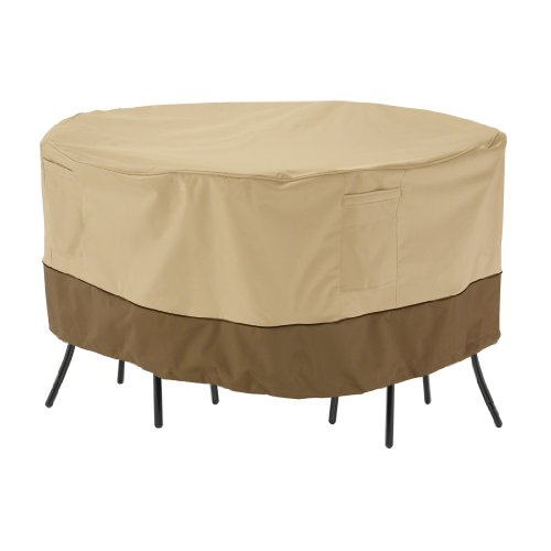 Classic Accessories Veranda Round Patio Bistro Table and Chair Set Cover - Durable and Water Resistant Patio Furniture Cover (71962) (Bistro Tables And Chairs compare prices)