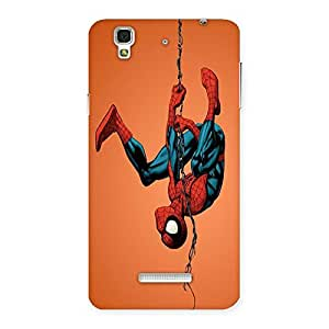 Ajay Enterprises Spider Black Hang Back Case Cover for YU Yureka Plus