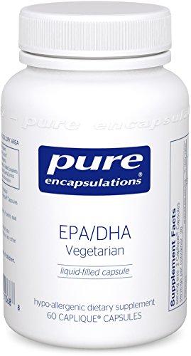 Pure Encapsulations - EPA/DHA Vegetarian - Hypoallergenic, Algae-Derived EPA and DHA Supplement - 60 Caplique Capsules (Algal Extract compare prices)