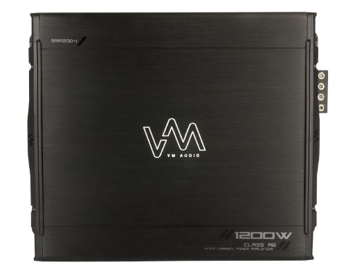 New VM Audio SRA1200.4 1200W 4 Channel Car Amplifier Power Amp MOSFET Stereo