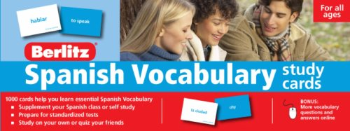 Berlitz Spanish Vocabulary Study Cards (Berlitz Study Cards) (Spanish Edition)