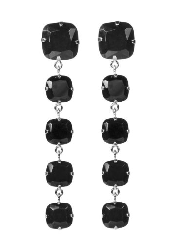 Jules Smith Viva Glam Rock Earrings, Silver, One Size