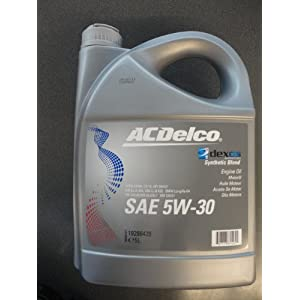 Acdelco sae 5w 30 dexos 2 5ltr engine oil synthetic blend for Mercedes benz synthetic oil