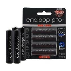 4pcs Eneloop Pro BK-3HCCA/4BC AA 2550mAh Battery -