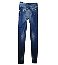isweven Girls Slim Fit Jeggings(j15 Blue Free Size)