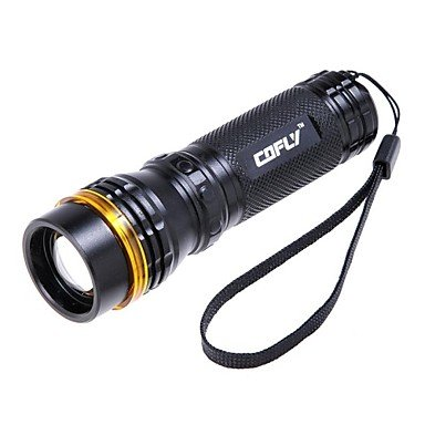 Mch-Cofly Cree Q5 3-Mode 310-Lumen White Zoom Convex Lens Led Flashlight Kx-398 , Blue