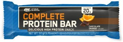 Optimum Nutrition Complete Protein Bars Chocolate Orange - Pack of 12 Bars