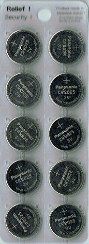 パナソニック コイン形リチウム電池 CR2025 バルク品 10個