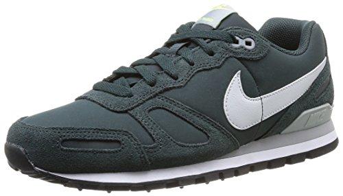 Nike Air Waffle Trainer Leather Herren Low-Top Sneaker Grün (Seaweed) 47.5