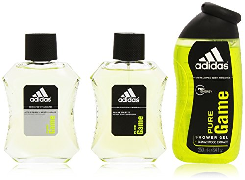 Adidas Pure Game Set Agua de Colonia 100 ml + After Shave 100ml + Showe Gel 250 ml