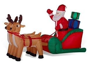 Rentierschlitten mit Weihnachtsmann 150 cm aufblasbar LED - beleuchtet von  in [ProductCategories]