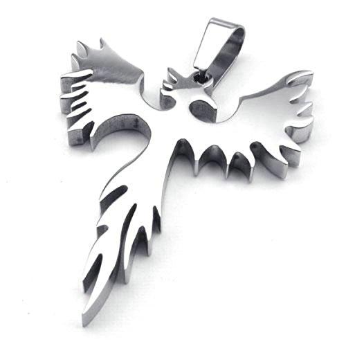 Jonline24h Stainless Steel Phoenix Bird Firebird Pendant Biker Mens Necklace, 18-26 inch Chain Gift (24 Inches) (Stainless Steel Pendants For Men compare prices)