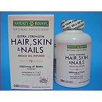 Nature's Bounty Hair Skin And Nails 250 Softgels Multivitamin 5000 Mcg Biotin
