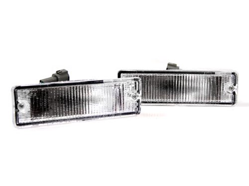 88-97 NISSAN HARDBODY PICKUP TRUCK EURO FRONT BUMPER TURN SIGNAL LIGHTS - CLEAR (92 Nissan Hardbody Parts compare prices)