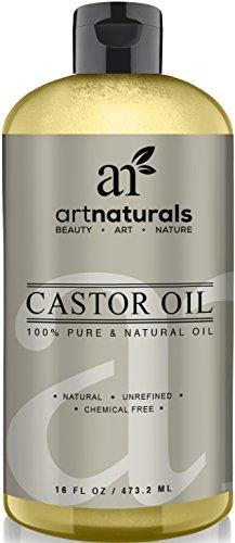 Art Naturals 100% Pure Castor Oil 16 oz - Best Massage Oil & Moisturizer for Hair and Skin