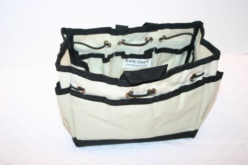 Kwiki Purse Insert Organizer KHAKI Medium by BagnBasket