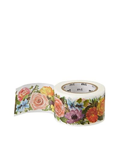 mt Masking Tape Floral Decorative Tape, Multi, 32.8 ft.