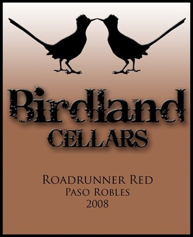 2008 Birdland Cellars Syrah Central Coast Paso Robles Roadrunner Red 750 Ml Bottle