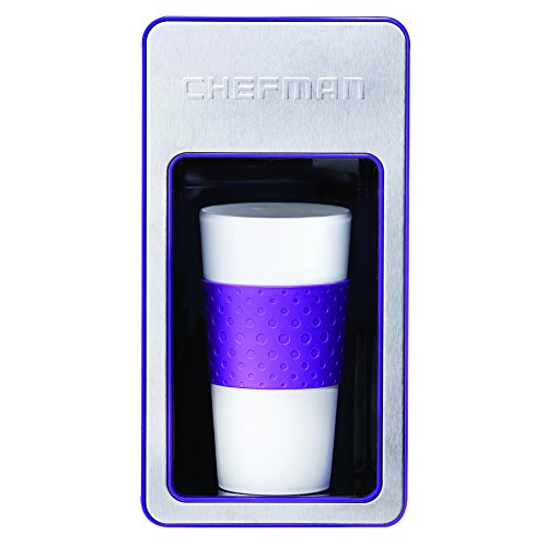 Chefman RJ14-M-S-P Single Serve Coffee Maker, Purple