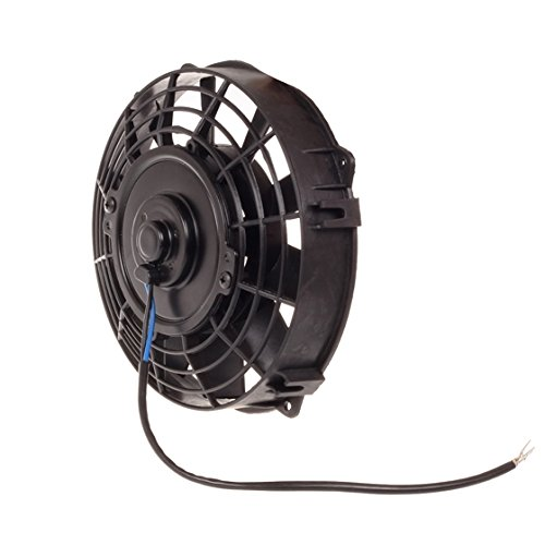 "Partsam 7"" Inch Radiator Push Pull Slim Cooling Fan+Mounting Kit #Rd-Fan-107Bk-264-N8"
