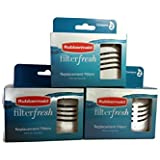 Rubbermaid Filterfresh Replacement Filters 2 Count (Pack of 3 Boxes)