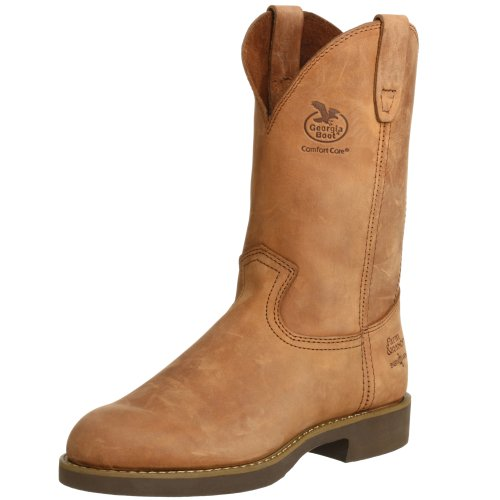Georgia Boot Men's Heritage Wellington Work Boot,13 2E US,Chestnut Prairie