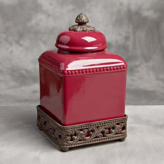 Tuscan Kitchen Canister Sets Small Tuscan Canister Cranberry By Gracious Goods