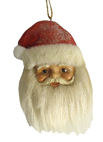 6″ Vintage Santa Claus Head Christmas Ornament