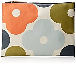 Orla Kiely Giant Flower Spot Print Large Zip Pouch Wallet, Multi, One Size