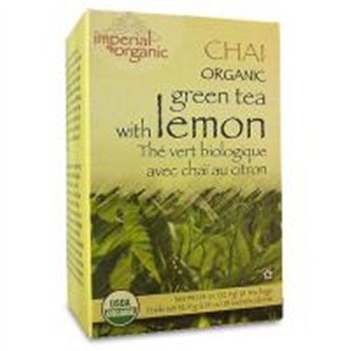 Uncle Lees Tea Imperial Organic Chai Green Tea With Lemon 18 Tea Bags